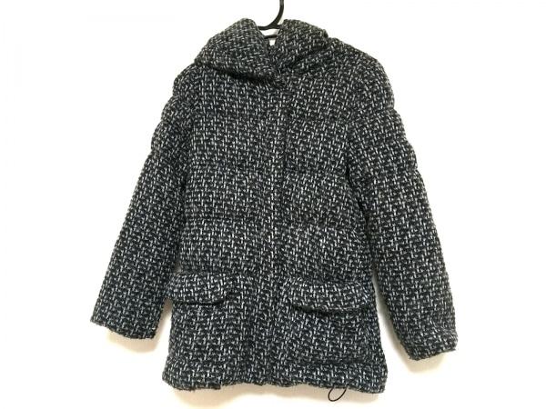 クロチェ ダウンジャケット サイズ3 L レディース ダークブラウン×黒×グレー 冬物
