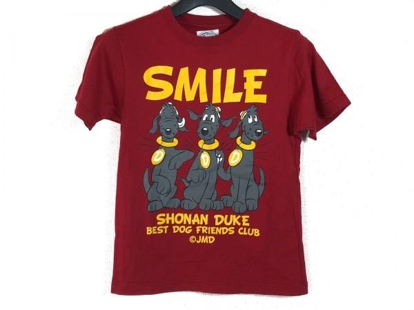 Shonanbo(ショーナンボー) 半袖Tシャツ レディース レッド×イエロー×マルチ 犬
