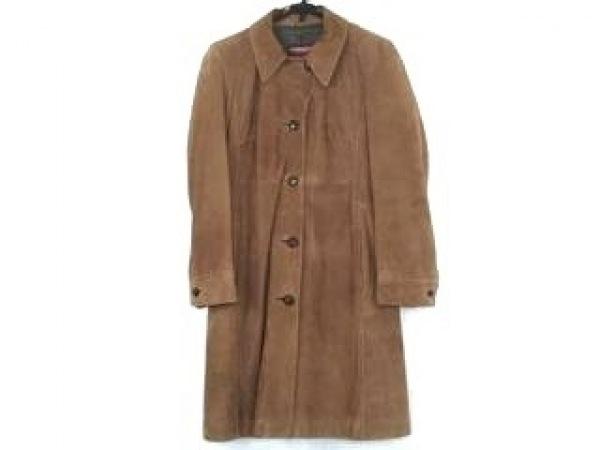 STRENESSE(ストラネス) コート サイズ36 S メンズ ブラウン ゴートスキン/冬物