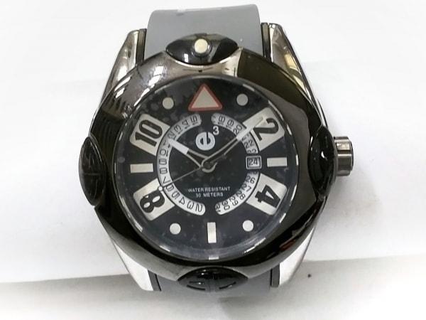 TENDENCE(テンデンス) 腕時計美品  02013036 メンズ ラバーベルト 黒