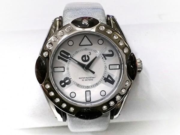 TENDENCE(テンデンス) 腕時計美品  02013007 メンズ ラバーベルト/ラインストーン 白