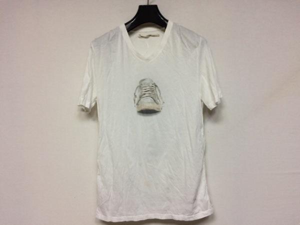 ゴールデングース 半袖Tシャツ サイズXS レディース美品  白×黒 SNEAKERS