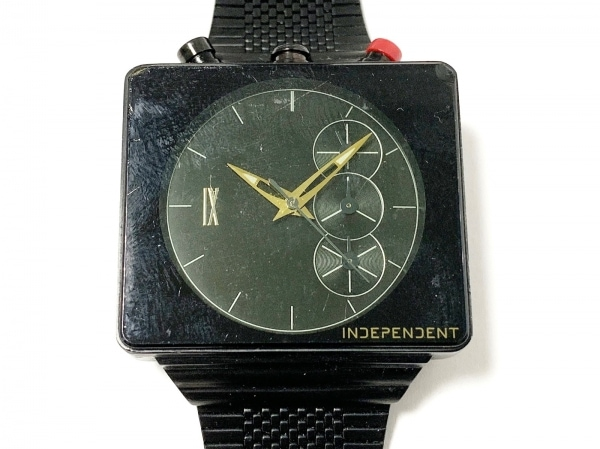 INDEPENDENT(インディペンデント) 腕時計 J550-002866-01 メンズ クロノグラフ 黒