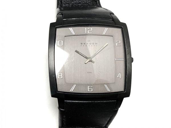 SKAGEN(スカーゲン) 腕時計 J621XXLBLB メンズ 革ベルト 黒
