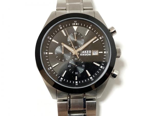 TAKEOKIKUCHI(タケオキクチ) 腕時計美品  TK-24D9 メンズ クロノグラフ 黒