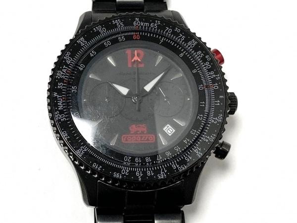 ALPHA INDUSTRIES(アルファ) 腕時計 - メンズ クロノグラフ 黒