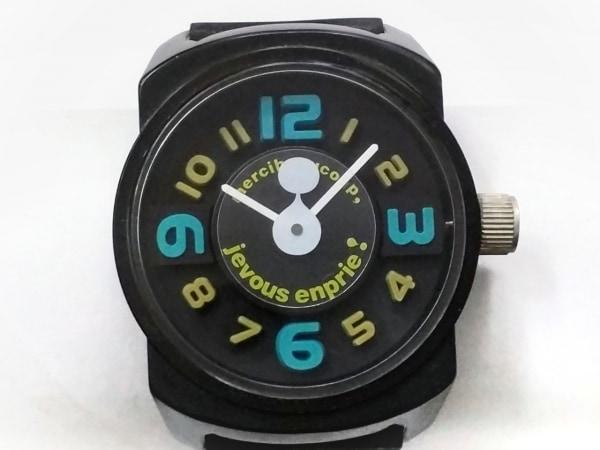 mercibeaucoup(メルシーボークー) 腕時計 MB24AW070 メンズ ラバーベルト 黒