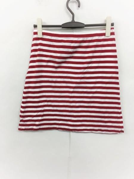 agnes b(アニエスベー) スカート サイズ2 M レディース美品  レッド×白 ボーダー