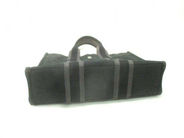 HERMES(エルメス) トートバッグ フールトゥトートPM 黒×グレー キャンバス