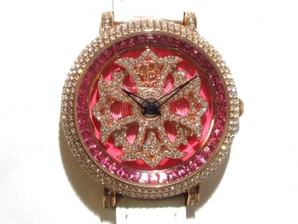 BRILLAMICO(ブリラミコ) 腕時計美品  レディース スワロフスキー ピンク