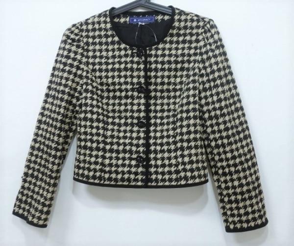 エムズグレイシー ジャケット サイズ36 S レディース美品  黒×ベージュ 千鳥格子