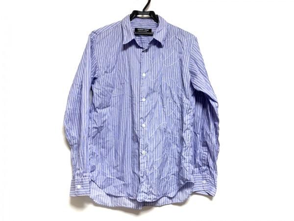 コムデギャルソンオムドゥ 長袖シャツ サイズS メンズ パープル×白 ストライプ