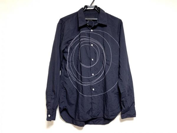 コムデギャルソンオムドゥ 長袖シャツ サイズS メンズ 黒×白