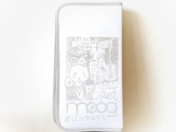 オゾン・ロックス 小物入れ アイボリー×ベージュ×グレー CD収納 ナイロン