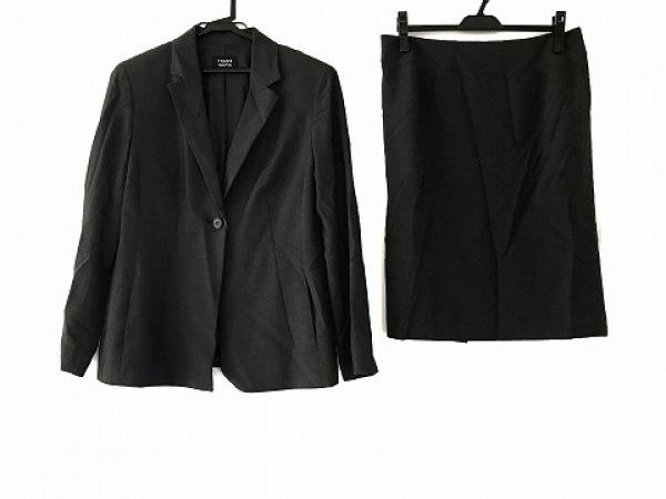 トランスワーク スカートスーツ サイズ13 L レディース美品  ダークグレー