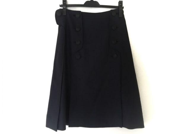 CEDRIC CHARLIER(セドリック シャルリエ) スカート サイズ38 M レディース ネイビー