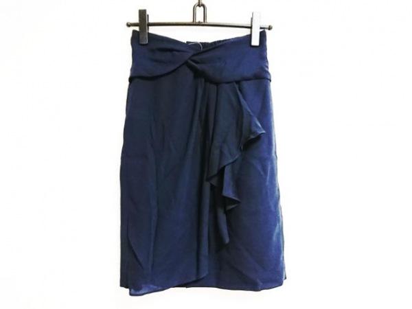 JUSGLITTY(ジャスグリッティー) スカート サイズ2 M レディース ネイビー フリル