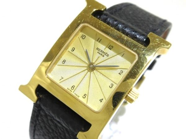 HERMES(エルメス) 腕時計 Hウォッチ HH1.201 レディース 革ベルト/□K ゴールド