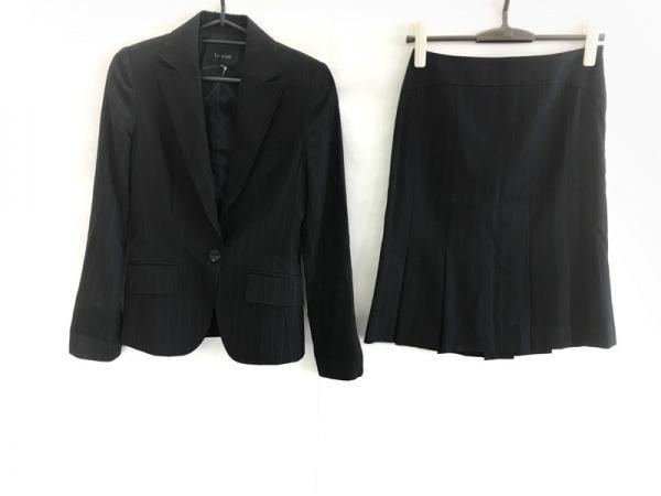 Le souk(ルスーク) スカートスーツ サイズ36 S レディース 黒×ライトグレー