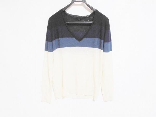 JOSEPH(ジョセフ) 長袖セーター サイズM レディース 白×ネイビー×黒