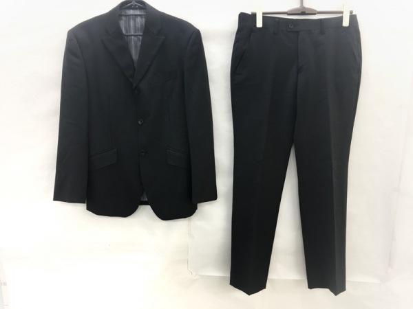 A.S.M(アトリエサブメン) シングルスーツ サイズ48 XL メンズ 黒×ライトグレー