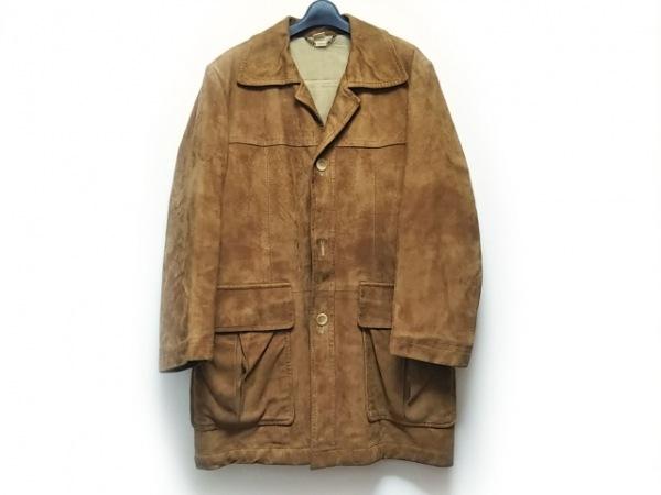 DURBAN(ダーバン) コート サイズL メンズ ライトブラウン 冬物/シープスキン
