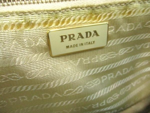 PRADA(プラダ) ハンドバッグ - アイボリー×ブラウン パンチング レザー