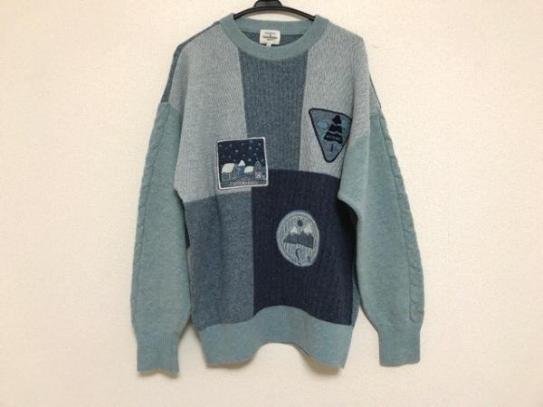 カステルバジャックスポーツ 長袖セーター サイズ4 XL レディース パッチワーク