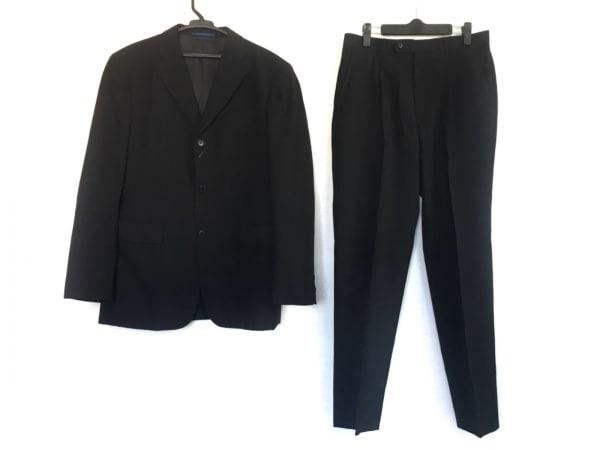 五大陸/gotairiku(ゴタイリク) シングルスーツ サイズ48 XL メンズ 黒 ネーム刺繍