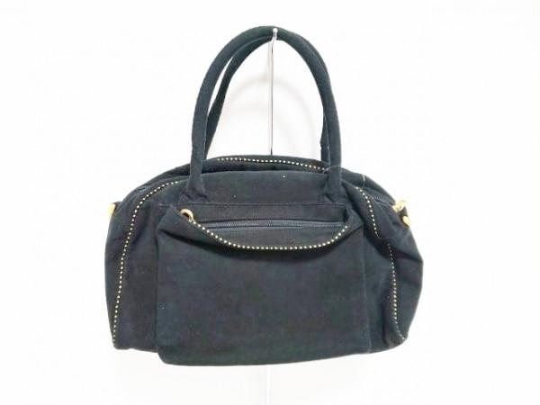 BALENCIAGA BB(バレンシアガライセンス) ハンドバッグ - - 黒×ゴールド ベロア