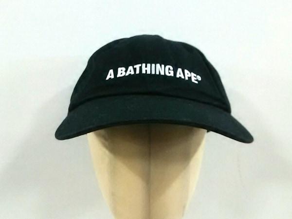 A BATHING APE(ア ベイシング エイプ) キャップ F 黒 コットン