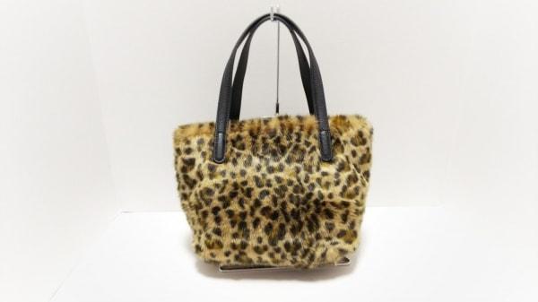 バナナリパブリック ハンドバッグ美品  ライトブラウン×黒×マルチ 豹柄