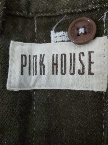 PINK HOUSE(ピンクハウス) スカート レディース美品  カーキ×白×レッド