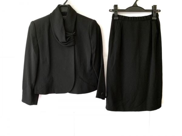 HARDY AMIES(ハーディエイミス) スカートスーツ サイズ9 M レディース 黒
