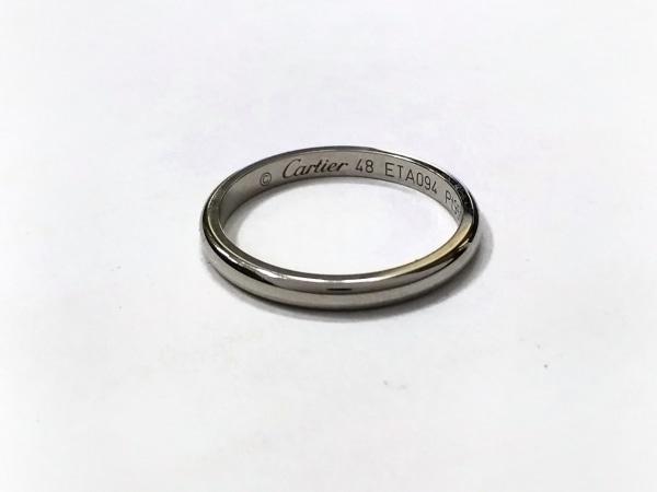カルティエ リング美品  1895 ウェディングリング Pt950 サイズ:48/イニシャル刻印