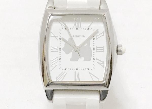 AGATHA(アガタ) 腕時計 - レディース ラバーベルト 白×シルバー