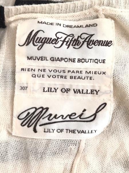 MUVEIL(ミュベール) ワンピース サイズ38 M レディース アイボリー×黒