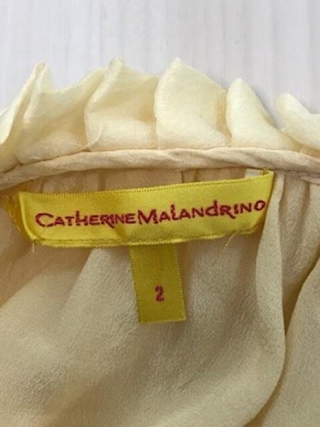 キャサリンマランドリーノ 七分袖カットソー サイズ2 S レディース イエロー
