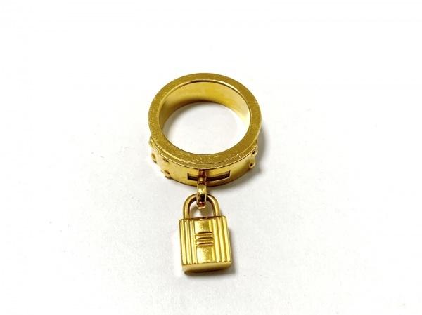 HERMES(エルメス) スカーフリング美品  ケリー 金属素材×レザー ゴールド×ベージュ