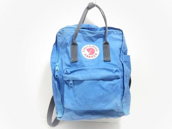FJALLRAVEN(フェールラーベン) リュックサック美品  ブルー×グレー ナイロン