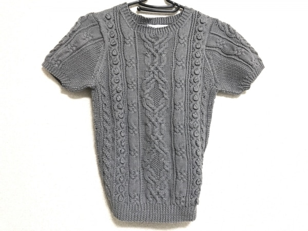 ERIBE(エリベ) 半袖セーター サイズS レディース グレー