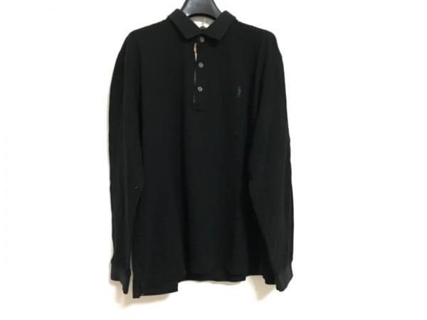 MACKINTOSH(マッキントッシュ) 長袖ポロシャツ サイズLL メンズ美品  黒