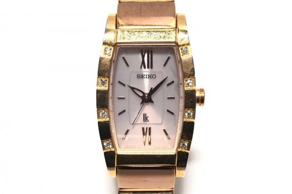 SEIKO(セイコー) 腕時計 ルキア V117-0AM0 レディース ラインストーン 白