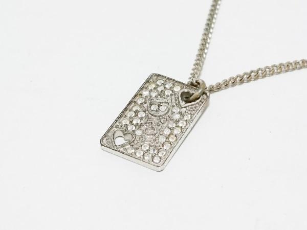 meet 6d471 ef3d8 クリスチャンディオール ネックレス 金属素材 シルバー ラインストーン
