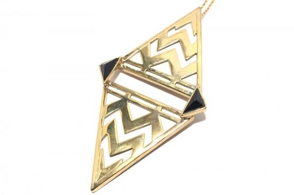 HouseofHarlow(ハウスオブハーロウ) ネックレス 金属素材 ゴールド×黒×白
