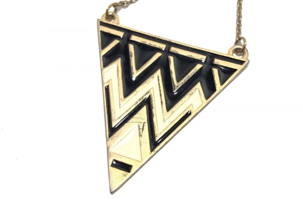 HouseofHarlow(ハウスオブハーロウ) ネックレス 金属素材 ゴールド×白×黒