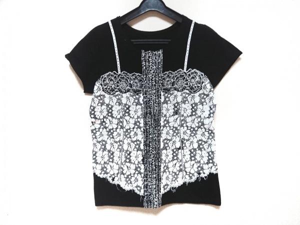 NOKO OHNO(ノコオーノ) 半袖Tシャツ サイズ42 L レディース 黒×白 だまし絵