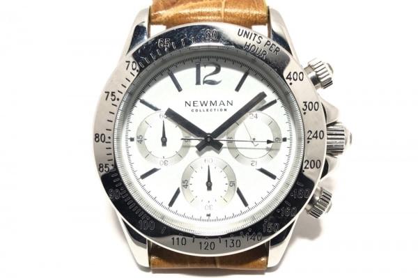 NEWMAN(ニューマン) 腕時計 - メンズ 型押し加工/クロノグラフ 白