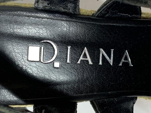 DIANA(ダイアナ) サンダル レディース 黒 ウェッジソール レザー