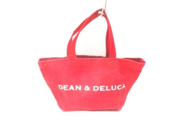 DEAN&DELUCA(ディーンアンドデルーカ) トートバッグ レッド コットン
